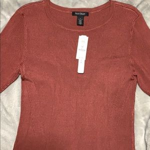 Blouse in Terra Rosa color
